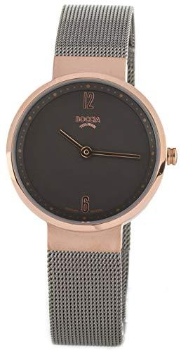 Boccia Damen Analog Quarz Uhr mit Edelstahl Armband 3283-03 - 1