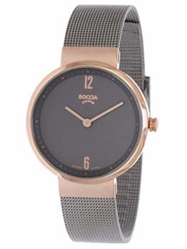 Boccia Damen Analog Quarz Uhr mit Edelstahl Armband 3283-04 - 1