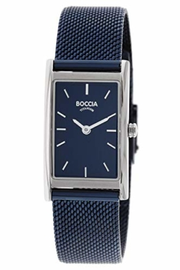 Boccia Damen Analog Quarz Uhr mit Edelstahl Armband 3304-01 - 1