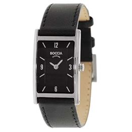 Boccia Damen Analog Quarz Uhr mit Leder Armband 3212-05 - 1