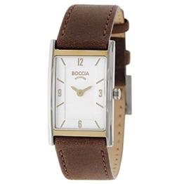Boccia Damen Analog Quarz Uhr mit Leder Armband 3212-06 - 1