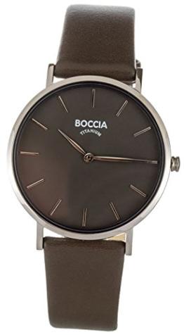 Boccia Damen Analog Quarz Uhr mit Leder Armband 3273-01 - 1