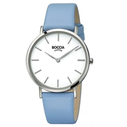 Boccia Damen Analog Quarz Uhr mit Leder Armband 3273-02 - 1