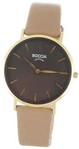 Boccia Damen Analog Quarz Uhr mit Leder Armband 3273-04 - 1