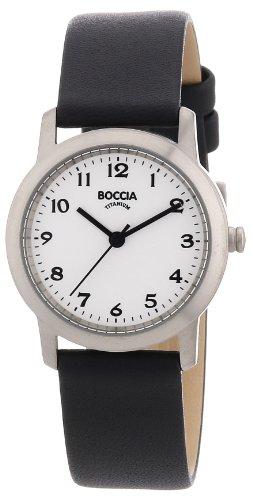 Boccia Damen Analog Quarz Uhr mit Leder Armband 3291-01 - 1