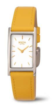 Boccia Damen Analog Quarz Uhr mit Leder Armband 3304-05 - 1