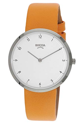 Boccia Damen Analog Quarz Uhr mit Leder Armband 3309-01 - 1