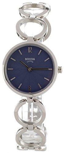 Boccia Damen Analog Quarz Uhr mit Titan Armband 3271-01 - 1