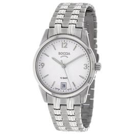 Boccia Damen Analog Quarz Uhr mit Titan Armband 3272-03 - 1