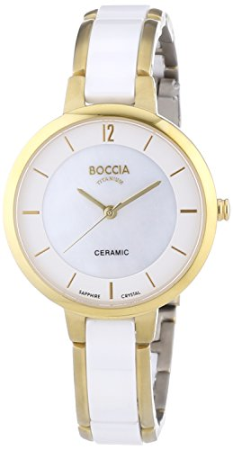 Boccia Damen-Armbanduhr XS Analog Quarz Keramik 3236-02 - 1