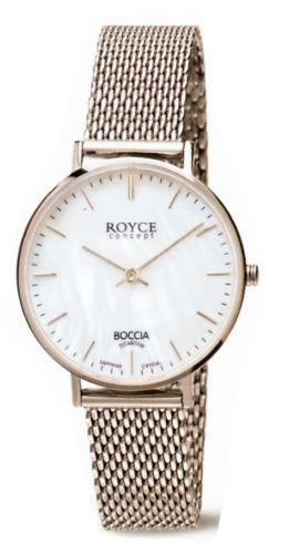 Boccia Damen Digital Quarz Uhr mit Edelstahl Armband 3246-10 - 1
