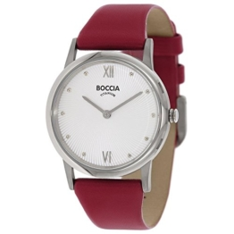Boccia Damen Digital Quarz Uhr mit Leder Armband 3265-01 - 1