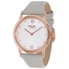 Boccia Damen Digital Quarz Uhr mit Leder Armband 3265-03 - 1