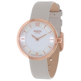 Boccia Damen Digital Quarz Uhr mit Leder Armband 3266-02 - 1