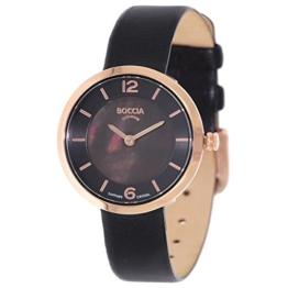 Boccia Damen Digital Quarz Uhr mit Leder Armband 3266-03 - 1