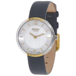 Boccia Damen Digital Quarz Uhr mit Leder Armband 3266-04 - 1