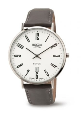 Boccia Herren Analog Quarz Uhr mit Leder Armband 3589-08 - 1