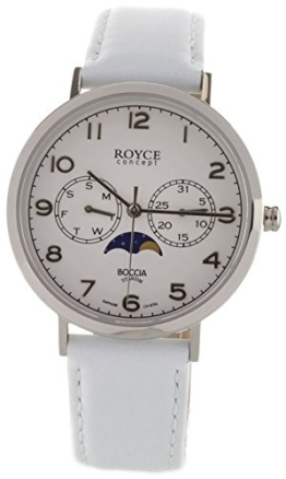 Boccia Herren Analog Quarz Uhr mit Leder Armband 3612-01 - 1