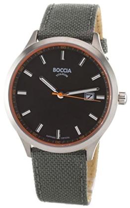 Boccia Herren Analog Quarz Uhr mit Leder Armband 3614-01 - 1
