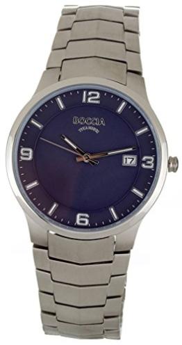 Boccia Herren Analog Quarz Uhr mit Titan Armband 3561-04 - 1