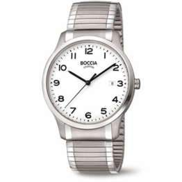 Boccia Herren Analog Quarz Uhr mit Titan Armband 3616-01 - 1