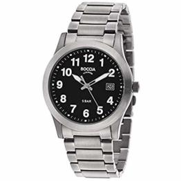 Boccia Herren Analog Quarz Uhr mit Titan Armband 3619-03 - 1