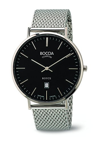 Boccia Herren-Armbanduhr Analog Quarz Edelstahl 3589-07 - 1