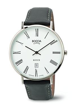 Boccia Herren-Armbanduhr Analog Quarz Leder 3589-03 - 1