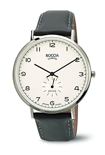 Boccia Herren-Armbanduhr Analog Quarz Leder 3592-01 - 1