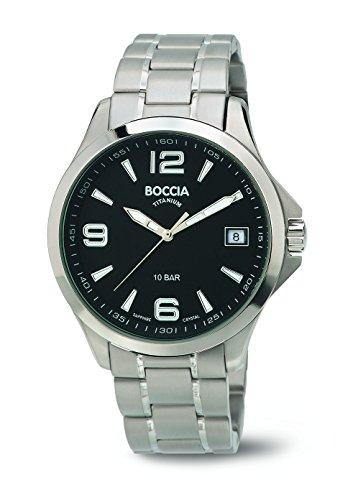 Boccia Herren-Armbanduhr Analog Quarz Titan 3591-02 - 1