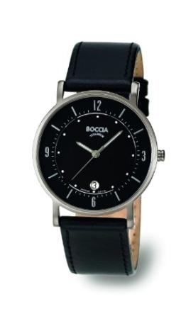 Boccia Herren-Armbanduhr Mit Lederarmband Trend 3533-01 - 1