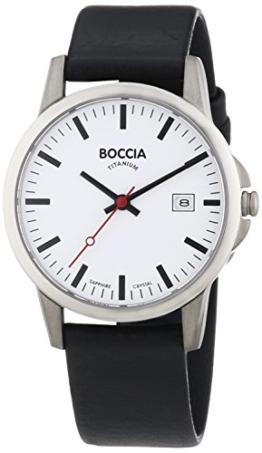 Boccia Herren-Armbanduhr XL Titanium Analog Quarz Leder 3625-05 - 1