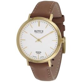 Boccia Herren Digital Quarz Uhr mit Leder Armband 3590-12 - 1