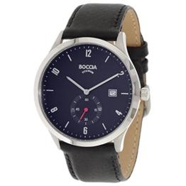 Boccia Herren Digital Quarz Uhr mit Leder Armband 3606-02 - 1