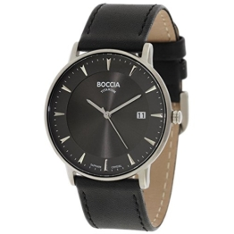 Boccia Herren Digital Quarz Uhr mit Leder Armband 3607-01 - 1