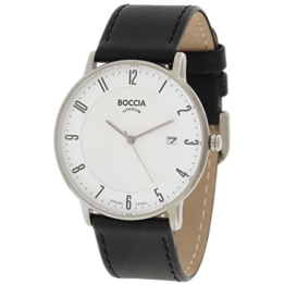 Boccia Herren Digital Quarz Uhr mit Leder Armband 3607-02 - 1
