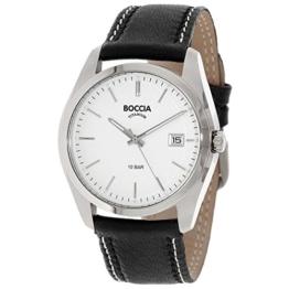 Boccia Herren Digital Quarz Uhr mit Leder Armband 3608-01 - 1