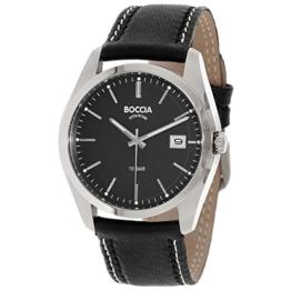 Boccia Herren Digital Quarz Uhr mit Leder Armband 3608-02 - 1