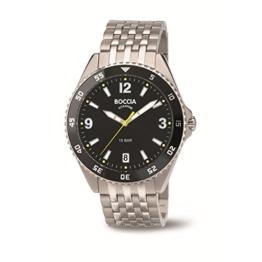 Boccia Herren Digital Quarz Uhr mit Titan Armband 3599-03 - 1