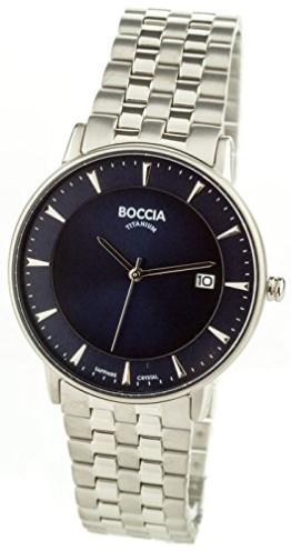 Boccia Herren Digital Quarz Uhr mit Titan Armband 3607-03 - 1