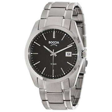 Boccia Herren Digital Quarz Uhr mit Titan Armband 3608-04 - 1
