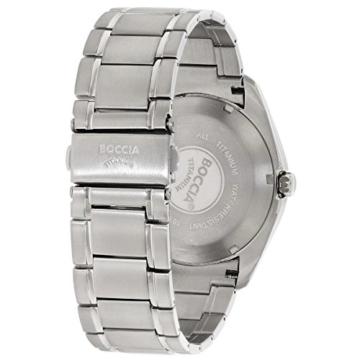 Boccia Herren Digital Quarz Uhr mit Titan Armband 3608-04 - 3