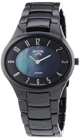 Boccia Keramic Titan Damen Uhr Schwarz 3216-02 - 1