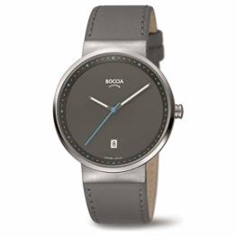 Boccia Unisex Erwachsene Analog Quarz Uhr mit Leder Armband 3615-03 - 1