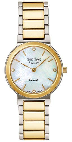 Bruno Söhnle Damen Analog Quarz Uhr mit Edelstahl Armband 17-23108-992 - 1