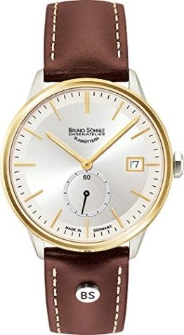 Bruno Söhnle Damen Analog Quarz Uhr mit Leder Armband 17-23183-241 - 1