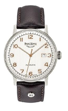 Bruno Söhnle Herren Analog Automatik Uhr mit Leder Armband 17-12173-225 - 1