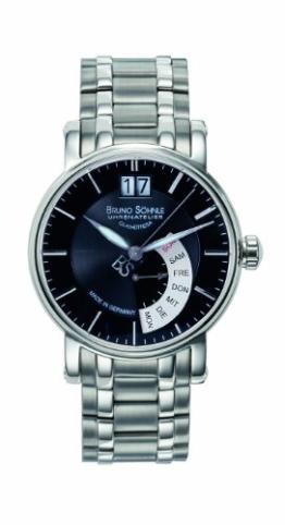 Bruno Söhnle Herren Analog Quarz Uhr mit Edelstahl Armband 17-13073-742 - 1