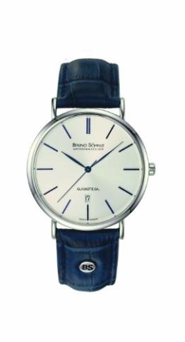 Bruno Söhnle Herren Analog Quarz Uhr mit Leder Armband 17-13085-243 - 1
