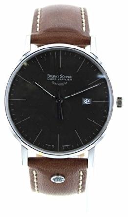 Bruno Söhnle Herren Analog Quarz Uhr mit Leder Armband 17-13175-841 - 1